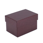 Double Ring Box Metallic Textured, Galaxy Collection - Amber Packaging