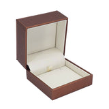 Pendant Box Luxury Leatherette Stitched Frame, Destiny Collection - Amber Packaging