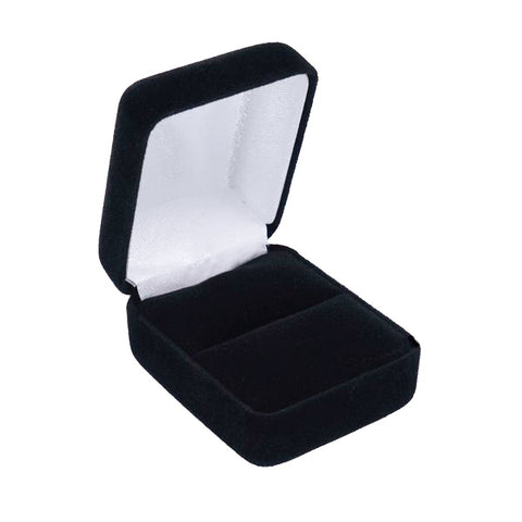 Single Ring Box Velour, Traditional Collection - Amber Packaging