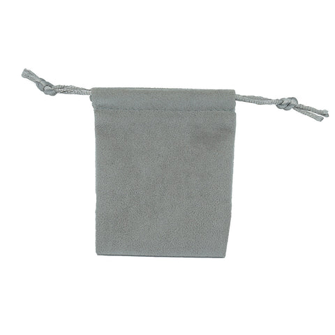 Small Soft Suede Drawstring Pouch - Amber Packaging