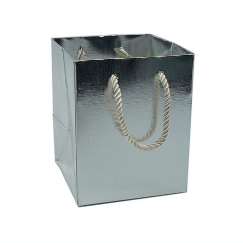 Medium Gift Bag-Silver - Amber Packaging