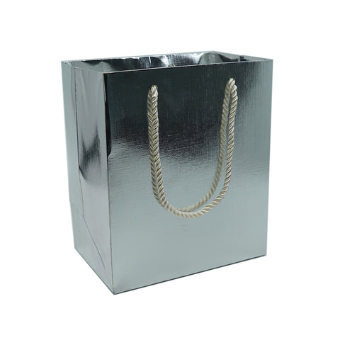 Large Gift Bag-Silver - Amber Packaging