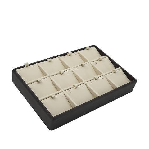 Pendant Tray for 12, Two Tone, Cocoa Collection - Amber Packaging