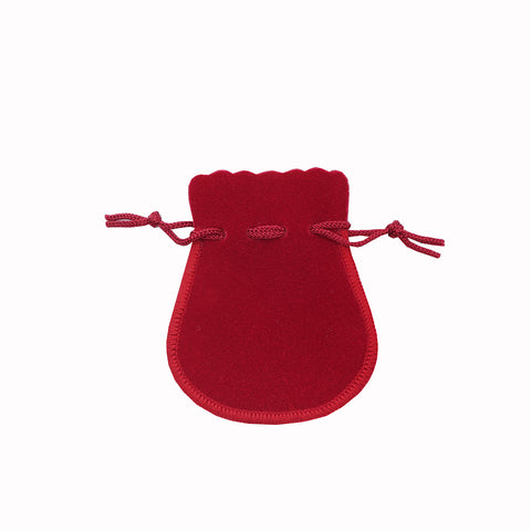 Small Suede Rounded Pouch - Amber Packaging
