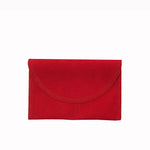 Medium Rectangle Suede Pouch w/ Partition - Amber Packaging