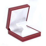 Drop Earring Box Sharp Corner w/ Gold Trim, Prime Collection - Amber Packaging