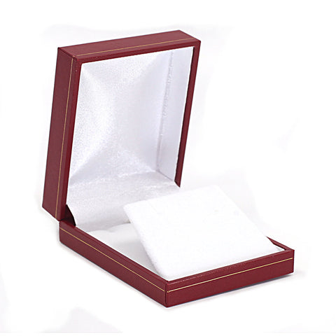 Pendant/Earring Box Sharp Corner w/ Gold Trim, Prime Collection - Amber Packaging