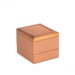 Pendant/Charm Box Wood Framed, Small, Retro Collection - Amber Packaging