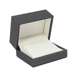 Stud Earring Box Luxury Leatherette Stitched Frame, Destiny Collection - Amber Packaging