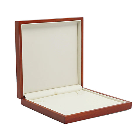 Necklace Box Domed Wood, Scarlett Collection - Amber Packaging