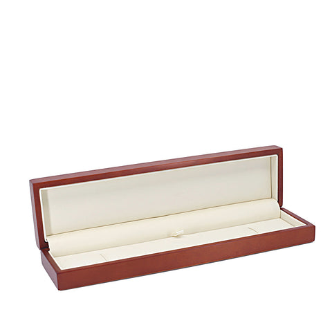 Bracelet Box Domed Wood, Scarlett Collection - Amber Packaging