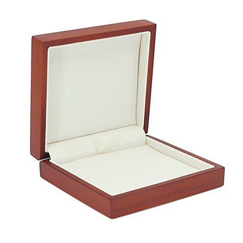 Pendant Box Domed Wood, Large, Scarlett Collection - Amber Packaging
