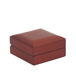 Drop Earring Box Domed Wood, Scarlett Collection - Amber Packaging