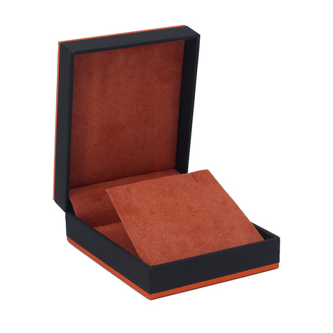 Earring/Pendant Box w/ Color Trim, Supernova Collection - Amber Packaging