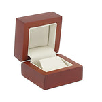 Earring Box Wood, Natural Collection - Amber Packaging