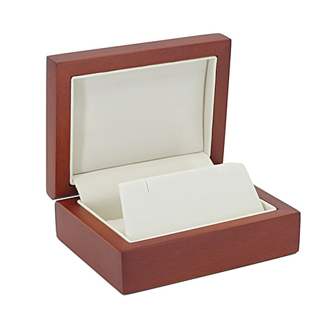 Pendant/Earring Box Wood, Natural Collection - Amber Packaging