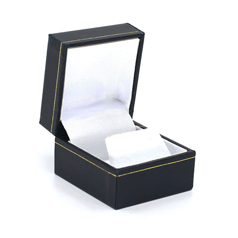 Earring/Pendant Box Sharp Corner w/ Gold Trim, Prime Collection - Amber Packaging