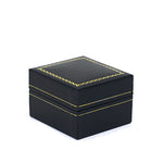 Stud Earring Box Sharp Corner w/ Gold Trim, Prime Collection - Amber Packaging