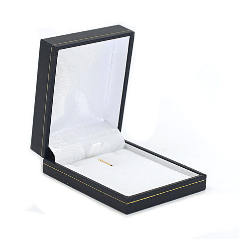 Pendant Box Sharp Corner w/ Gold Trim, Prime Collection - Amber Packaging