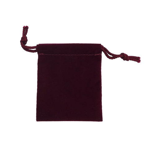 Small Velour Drawstring Pouch - Amber Packaging