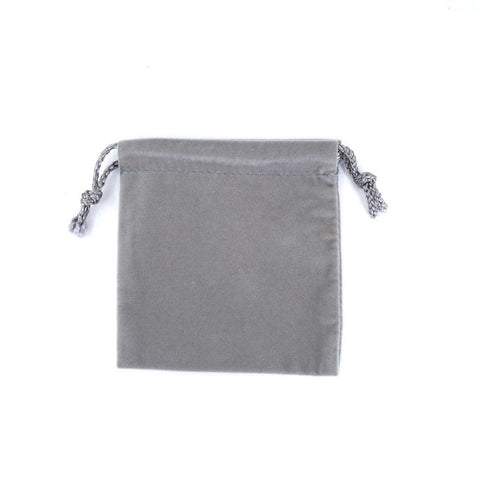 Medium Velour Drawstring Pouch - Amber Packaging