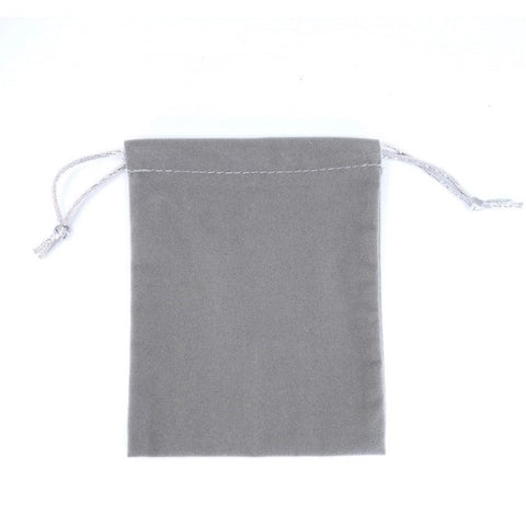Large Velour Drawstring Pouch - Amber Packaging