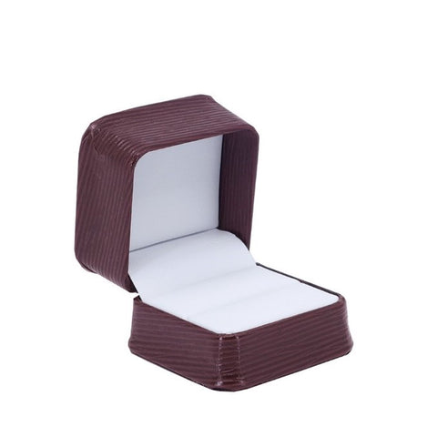 Single Ring Box Textured Leatherette, Abstract Collection - Amber Packaging