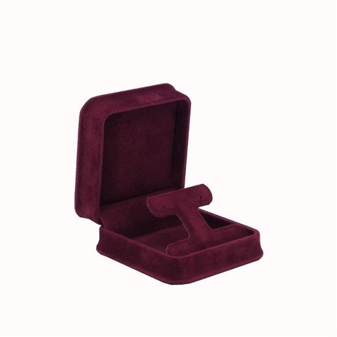 Drop Earring Box Velveteen, Plush Collection - Amber Packaging