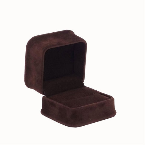 Single Ring Box Velveteen, Plush Collection - Amber Packaging