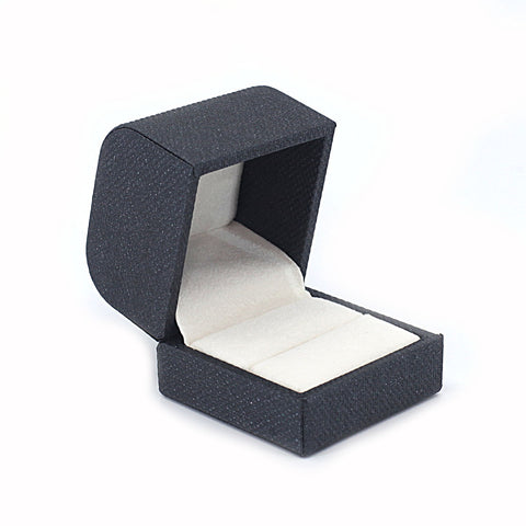 Single Ring Box Metallic Textured, Galaxy Collection - Amber Packaging