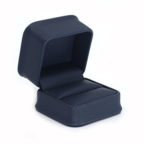 Single Ring Box Leatherette, Midnight Collection - Amber Packaging