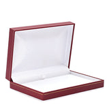 Necklace Box Sharp Corner w/ Gold Trim, Small, Prime Collection - Amber Packaging
