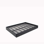 Large Storage Tray w/ 14 Slot Watch Pad - Amber Packaging