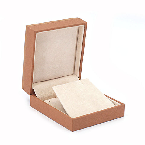 Earring/Pendant Box Wood Framed, Retro Collection - Amber Packaging