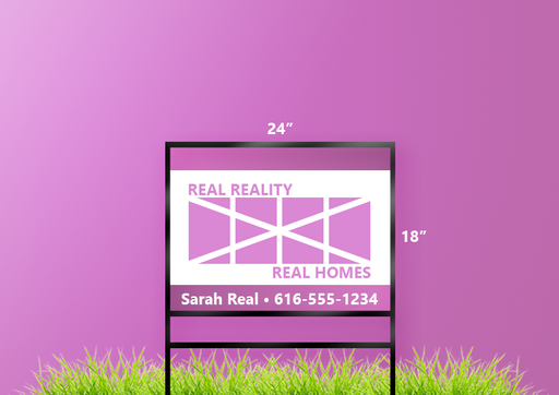"18""H x 24""W Real Estate Sign"