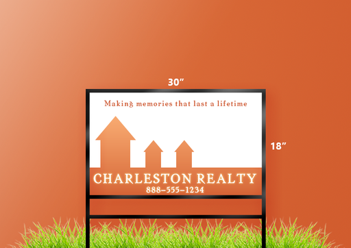 "18""H x 30""W Real Estate Sign"