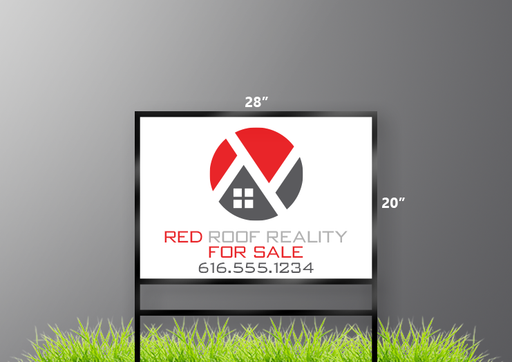 "20""H x 28""W Real Estate Sign"