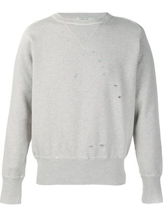 Levis Vintage Clothing Bay Meadows Sweatshirt - Oatmeal