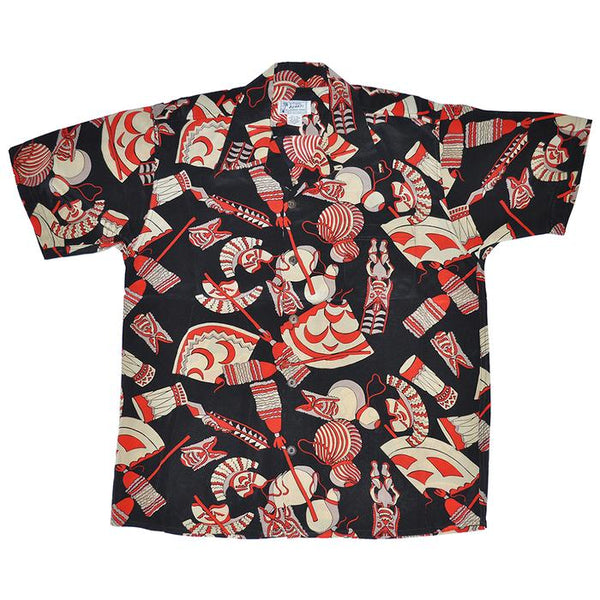 Avanti Hawaiian Shirt - Kane Symbols - Black