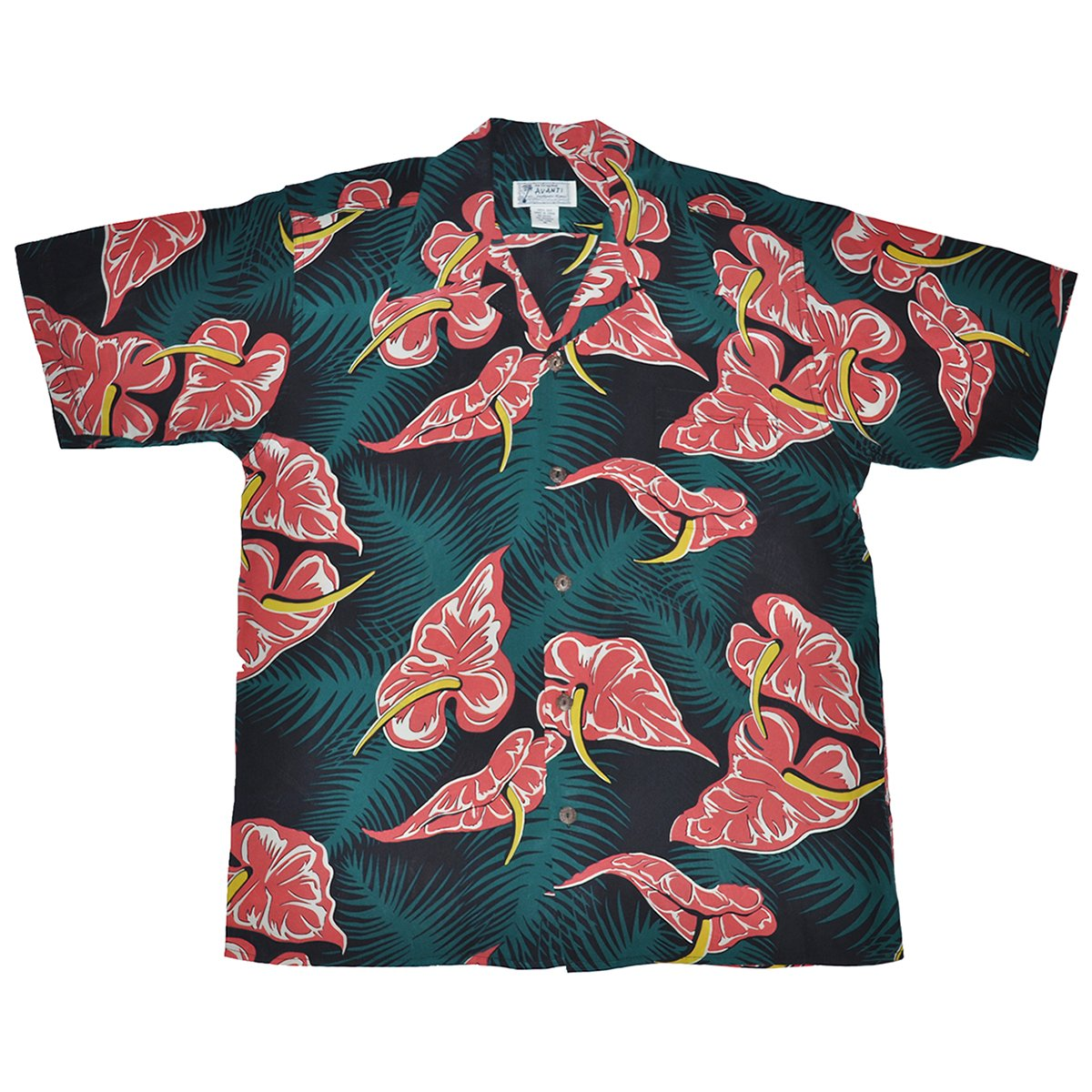Avanti Hawaiian Shirt - Heart Of Hawaii - Black