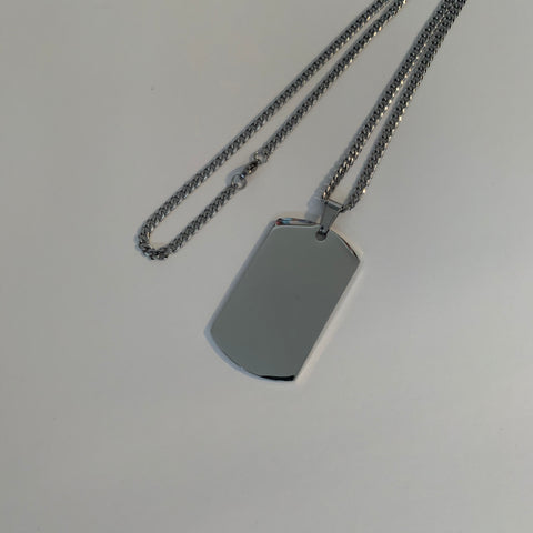 Dog Tag Link Chain