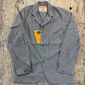 SUGARCANE PIN CHECK 8oz WORK COAT