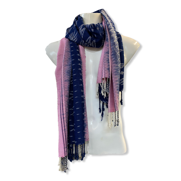 Elroy exclusive Hand Woven Indigo Dyed Scarves - Large Size
