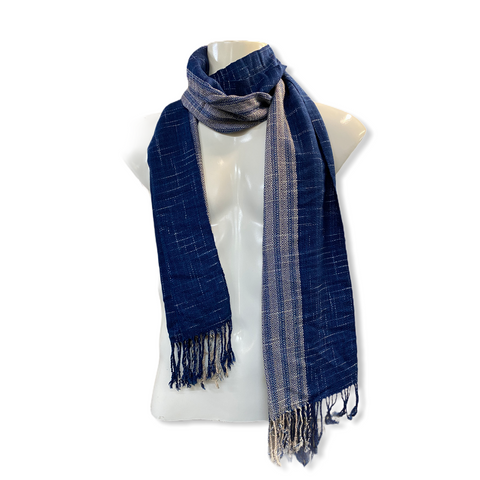 Elroy exclusive Hand Woven Indigo Dyed Scarves - Small Size