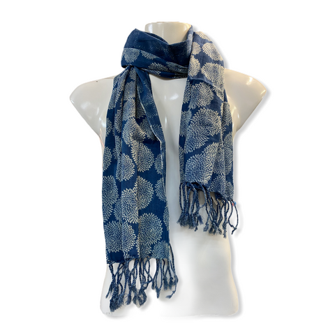 Elroy exclusive Lightweight Indigo Dyed Scarves