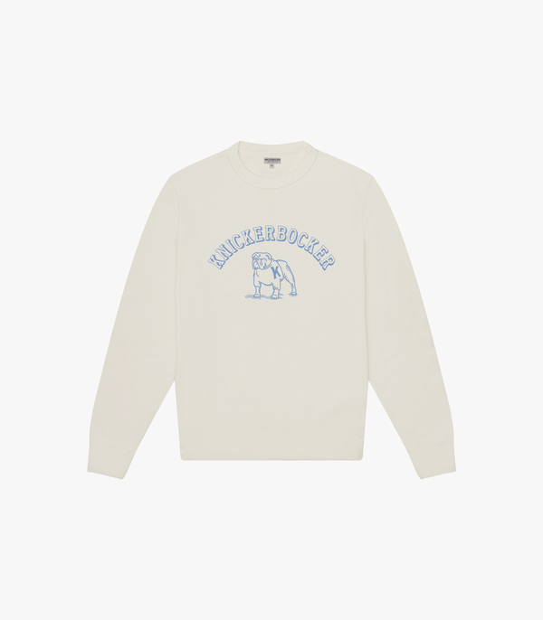 Knickerbocker Bulldog Gym Crew Fleece - Milk