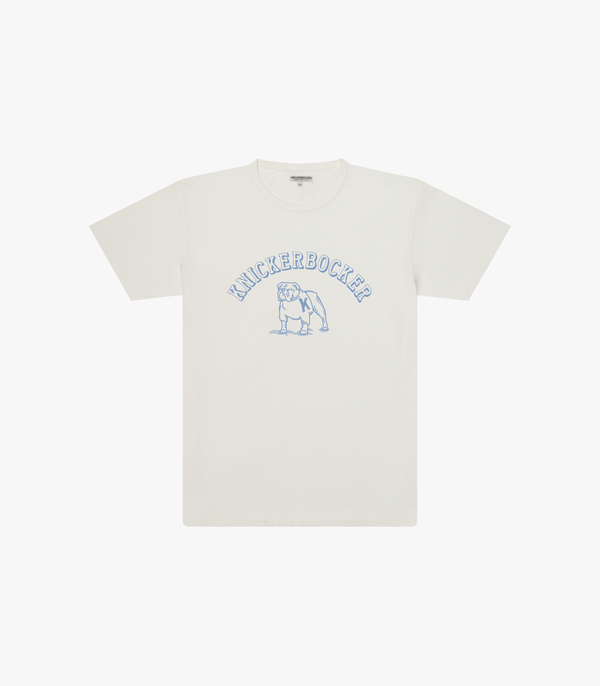 Knickerbocker Bulldog T Shirt - Milk