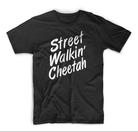Rock And Roll Repeat Street Walkin' Cheetah T Shirt