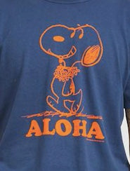 TSPTR Aloha Snoopy T-Shirt - Navy