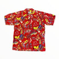 Avanti Hawaiian Shirt - Airways - Red